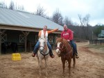 Kevin and I at the Ranch