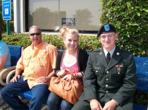 Kevin, my daughter Calle and my son Chase after his graduation at Ft. Benning.